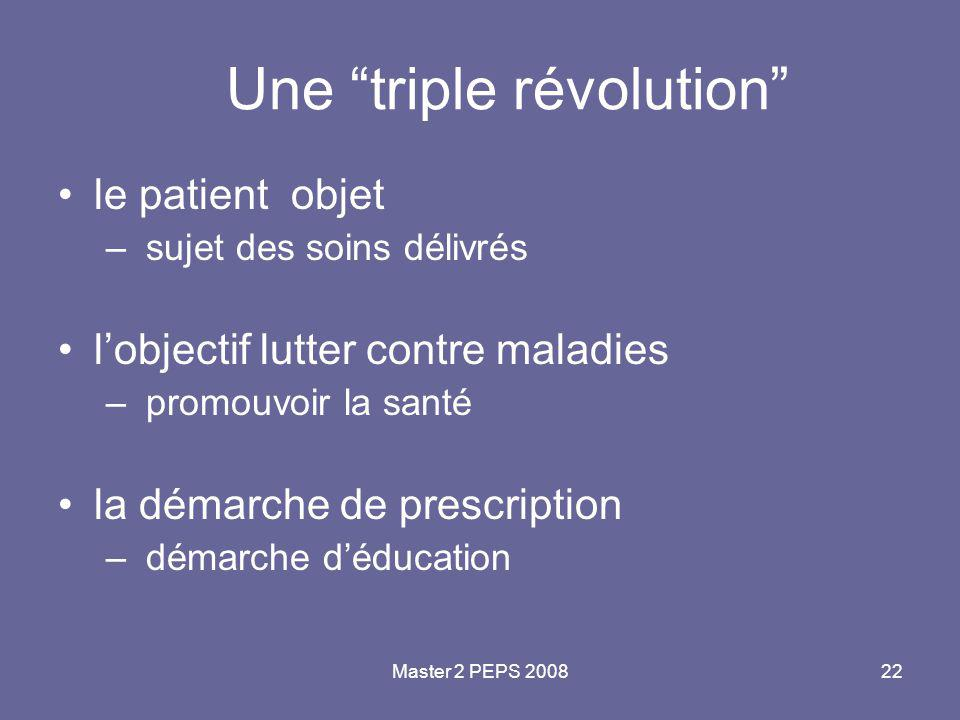 Une triple révolution
