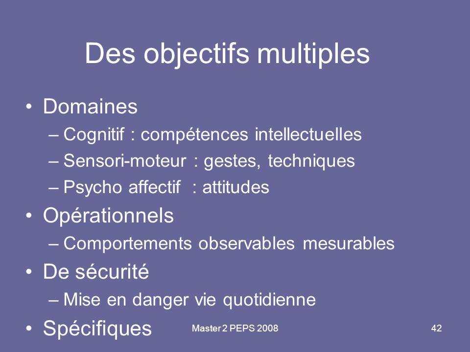 Des objectifs multiples