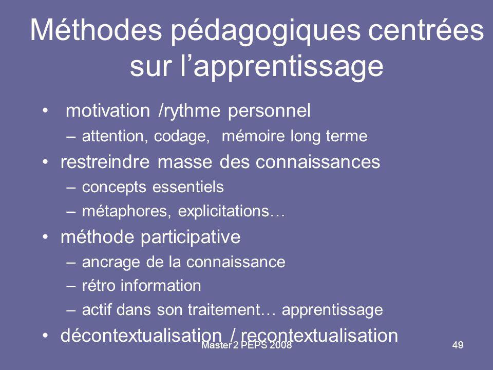 Méthodes pédagogiques centrées sur l'apprentissage