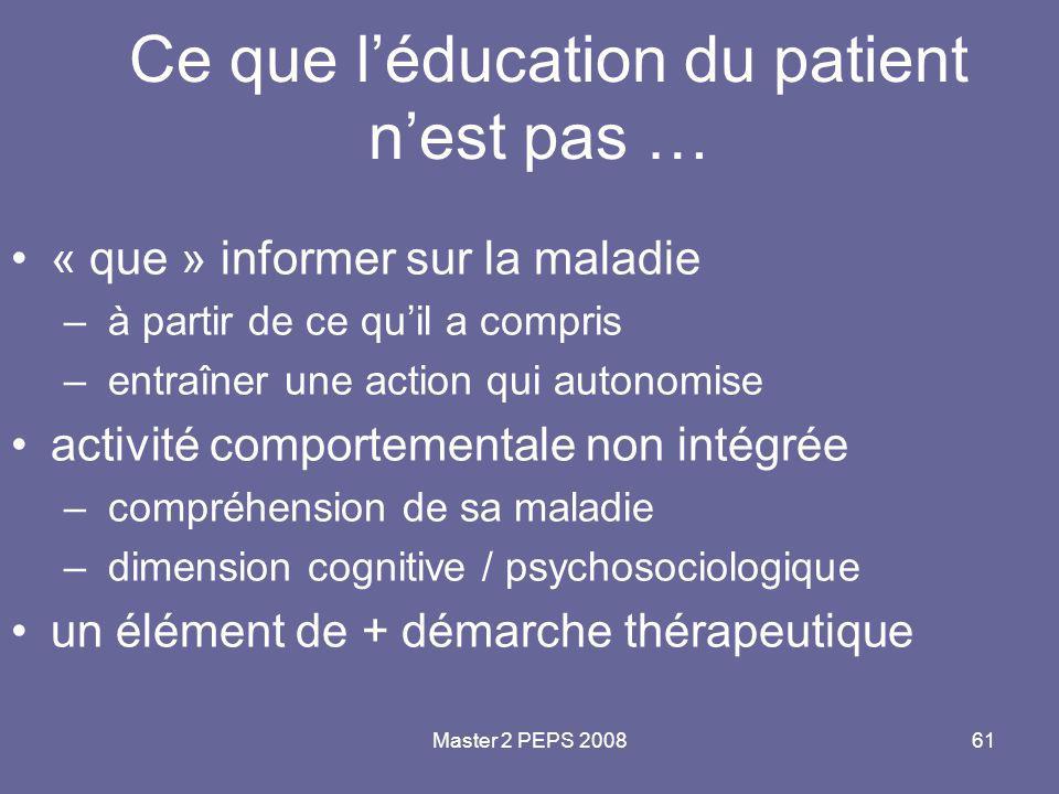 Ce que l'éducation du patient n'est pas …