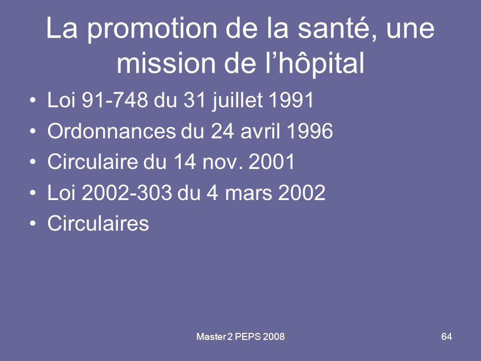 La promotion de la santé, une mission de l'hôpital