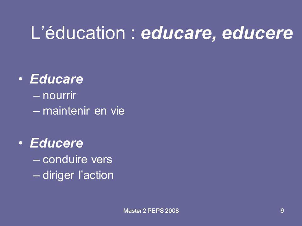 L'éducation : educare, educere