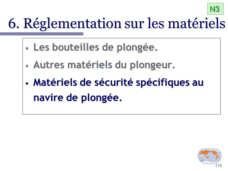 6. Réglementation sur les matériels