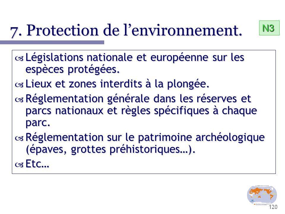 7. Protection de l'environnement.