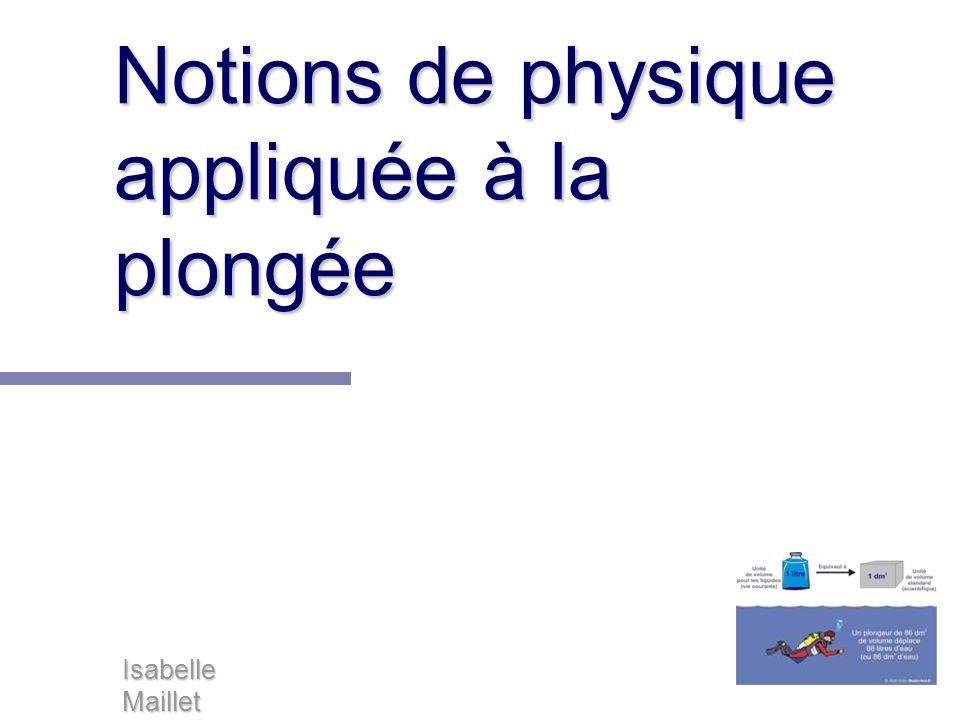 Notions de physique appliquée à la plongée