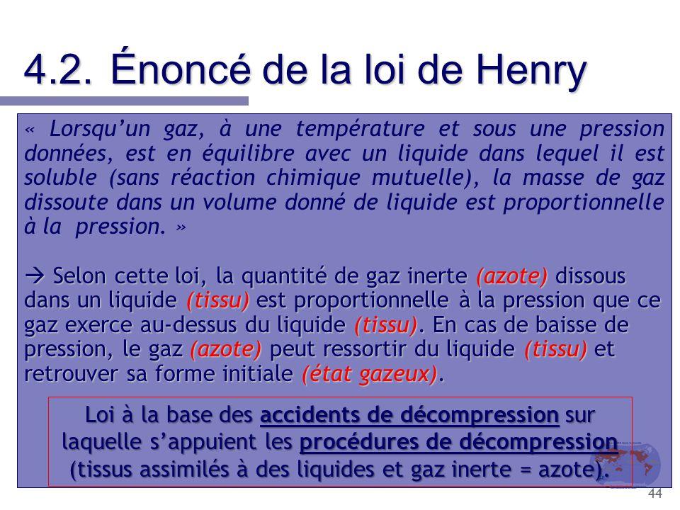 4.2. Énoncé de la loi de Henry