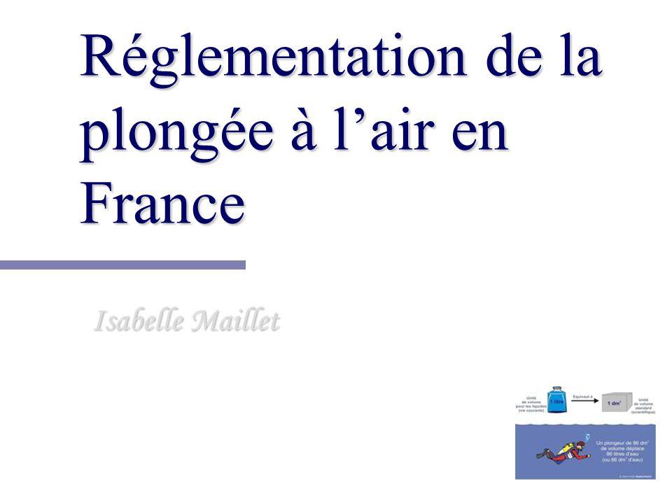Réglementation de la plongée à l'air en France
