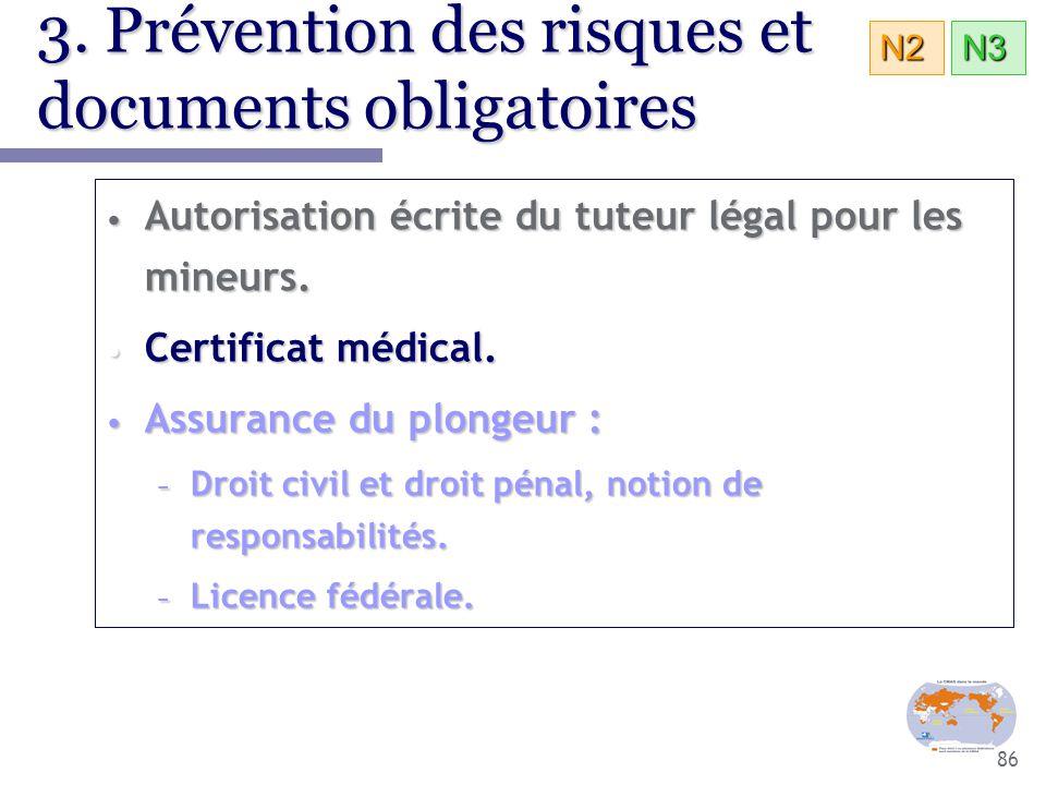 3. Prévention des risques et documents obligatoires