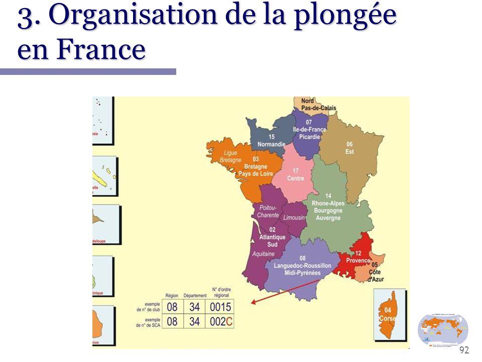 3. Organisation de la plongée en France