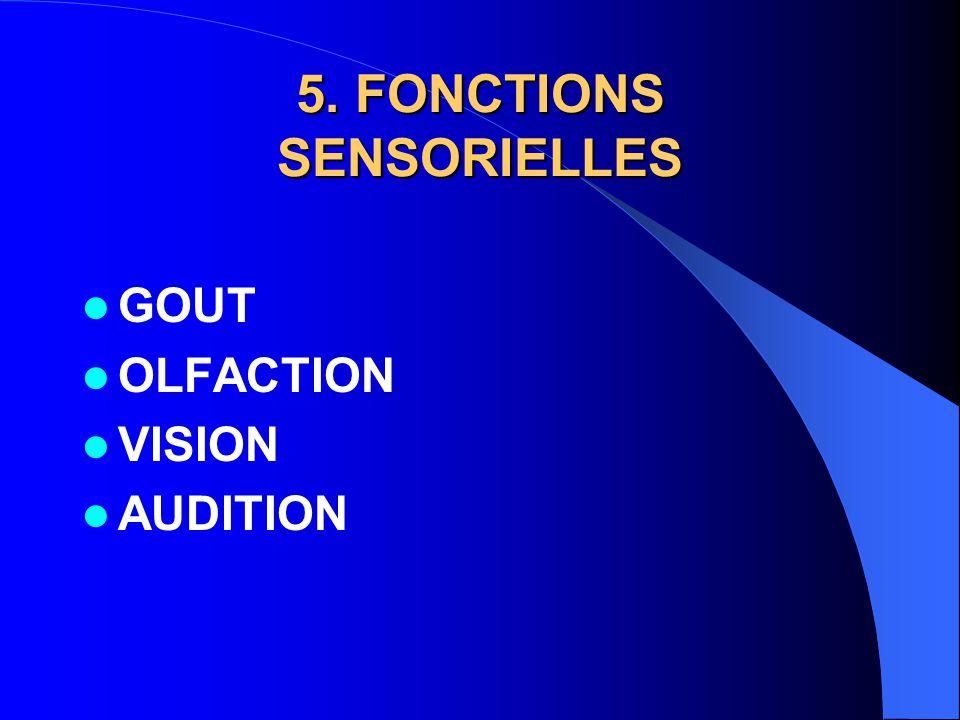 5. FONCTIONS SENSORIELLES