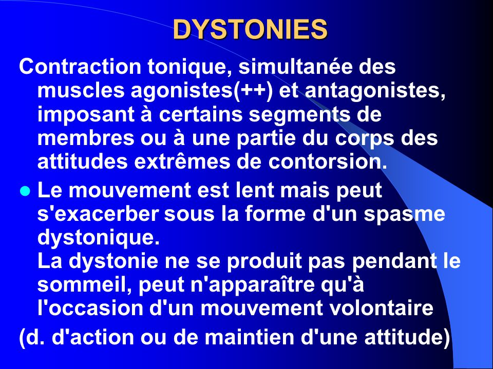 DYSTONIES