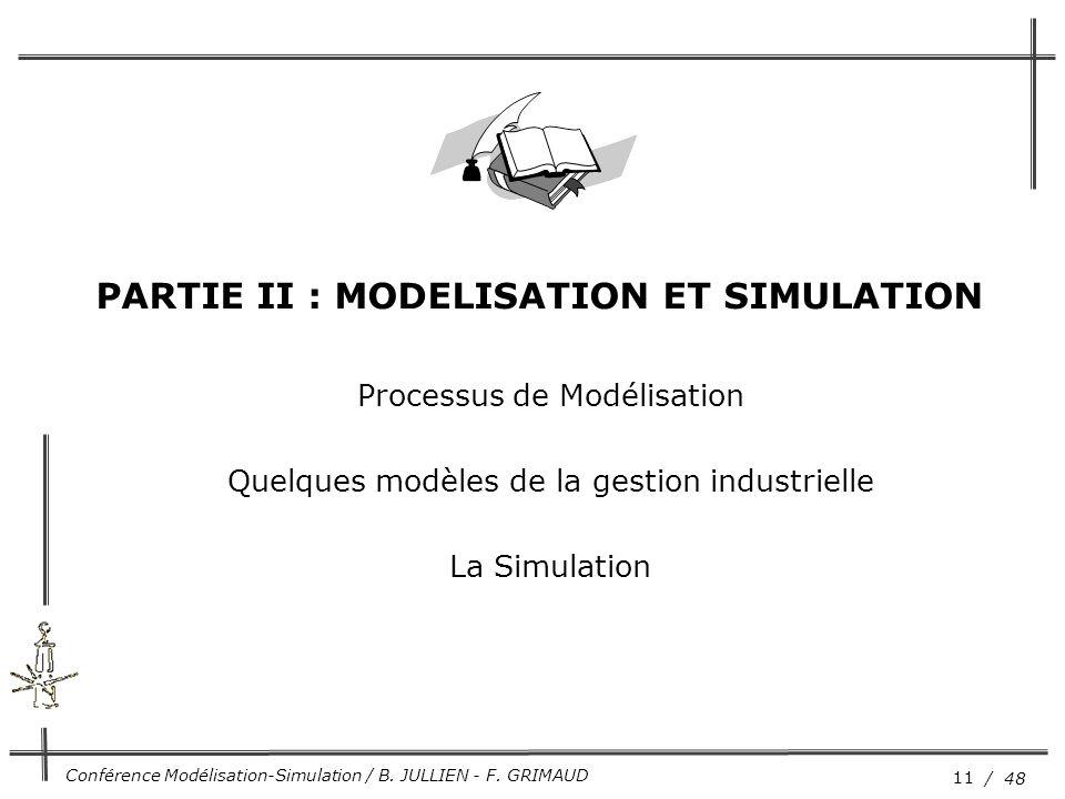 PARTIE II : MODELISATION ET SIMULATION