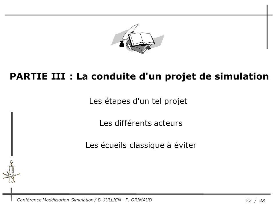 PARTIE III : La conduite d un projet de simulation