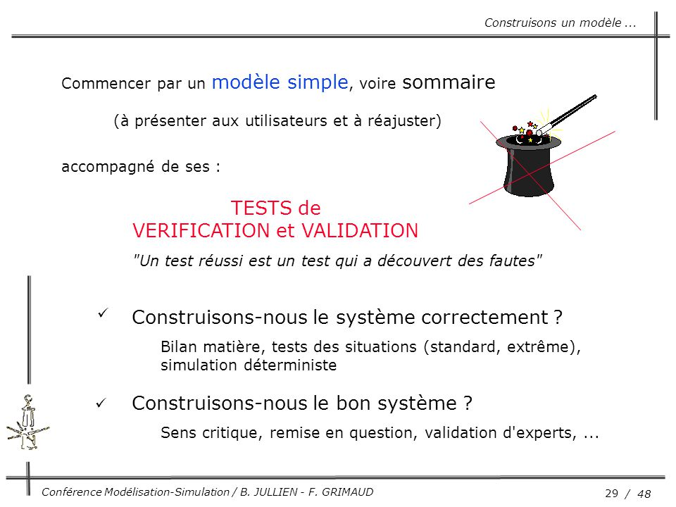 VERIFICATION et VALIDATION