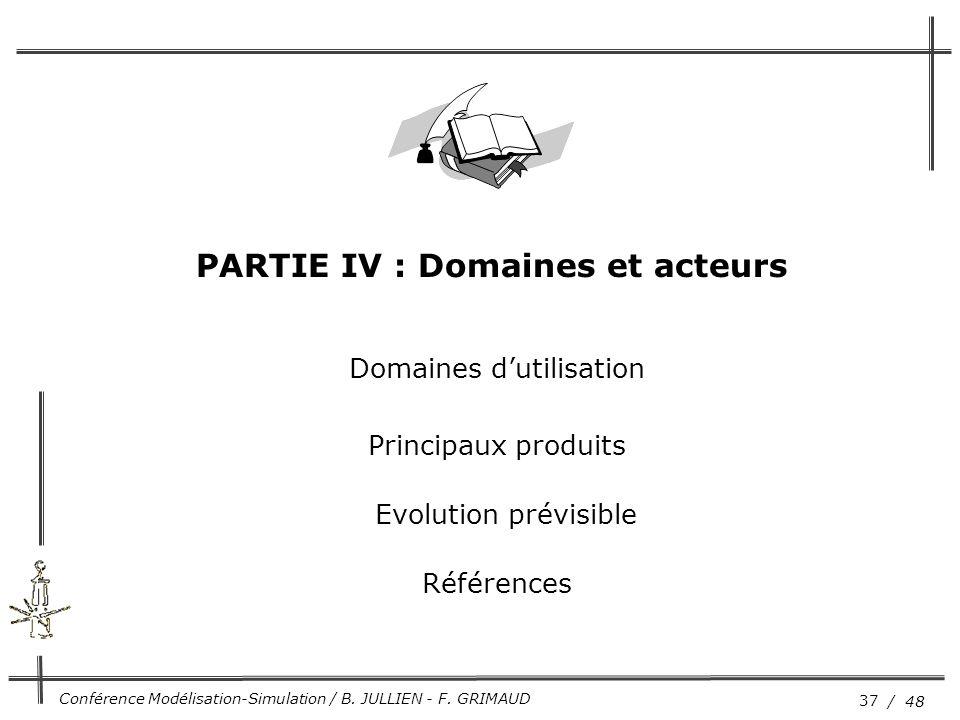 PARTIE IV : Domaines et acteurs