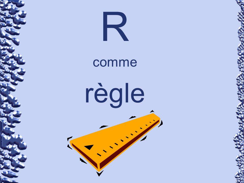 R comme règle