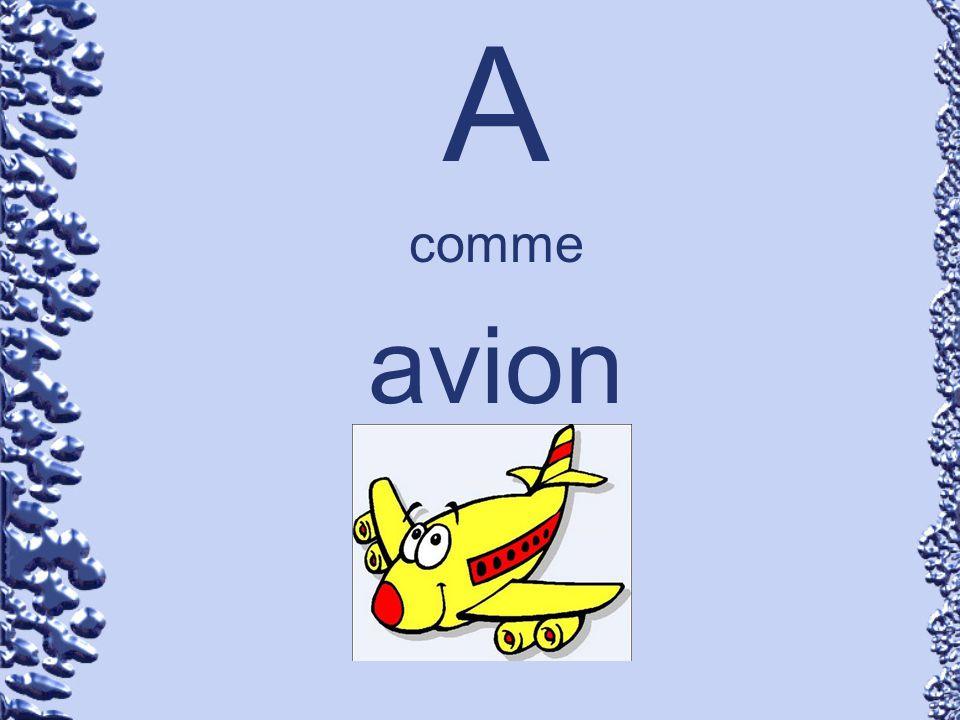 A comme avion