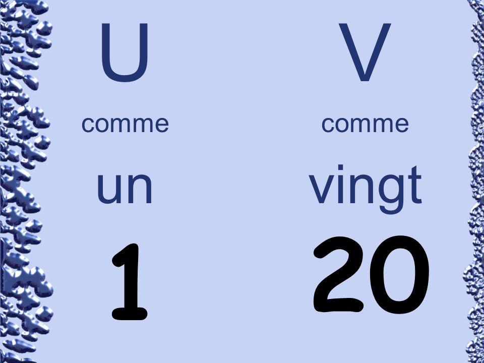 U comme un V comme vingt 20 1