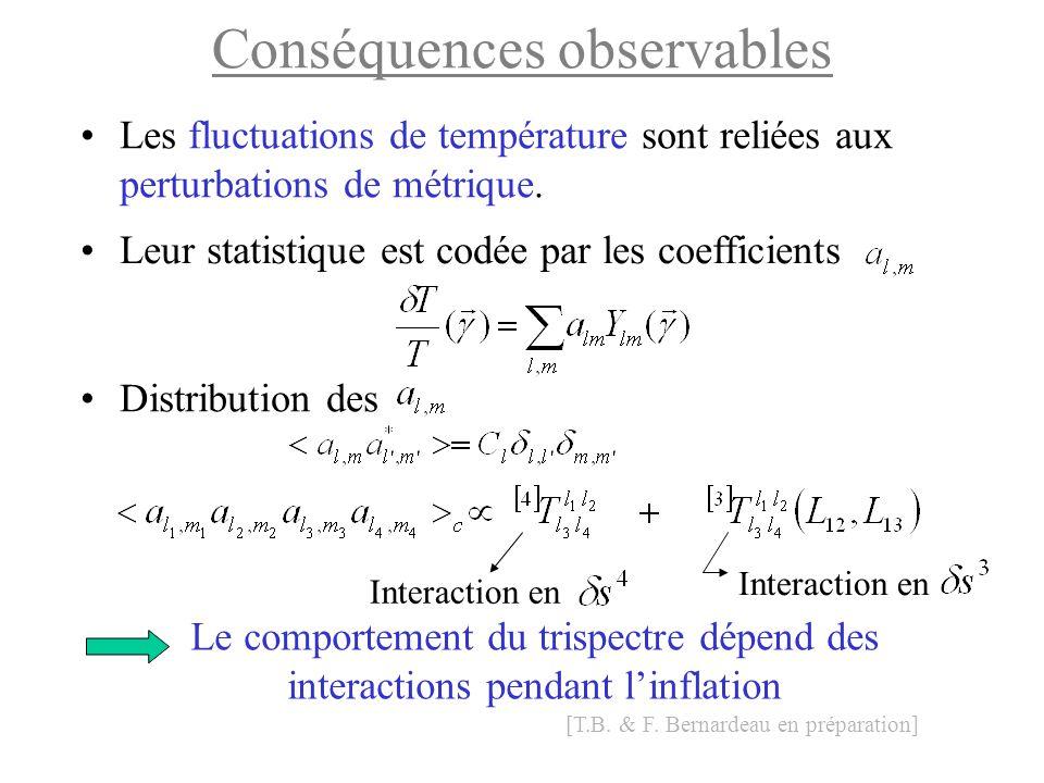 Conséquences observables