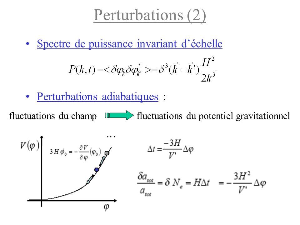 Perturbations (2) Spectre de puissance invariant d'échelle