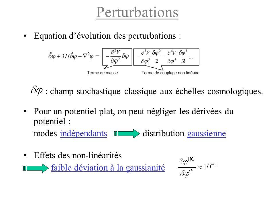 Perturbations Equation d'évolution des perturbations :