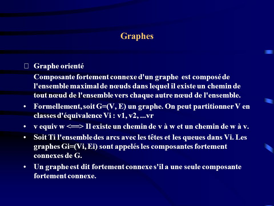 Graphes Graphe orienté