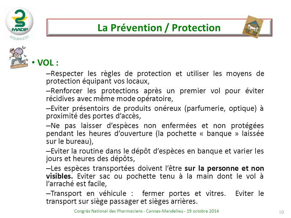 La Prévention / Protection