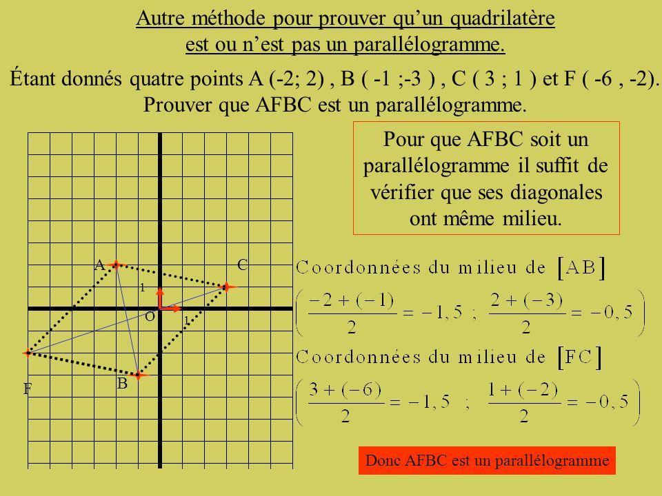 Prouver que AFBC est un parallélogramme.