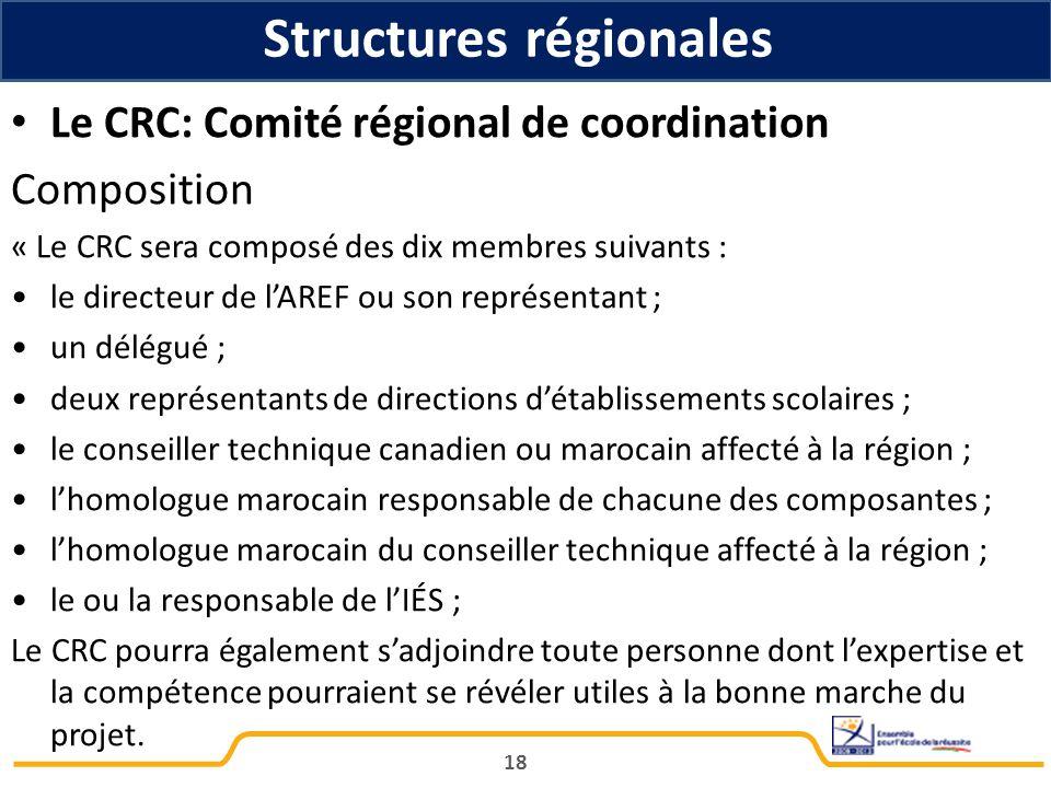 Structures régionales