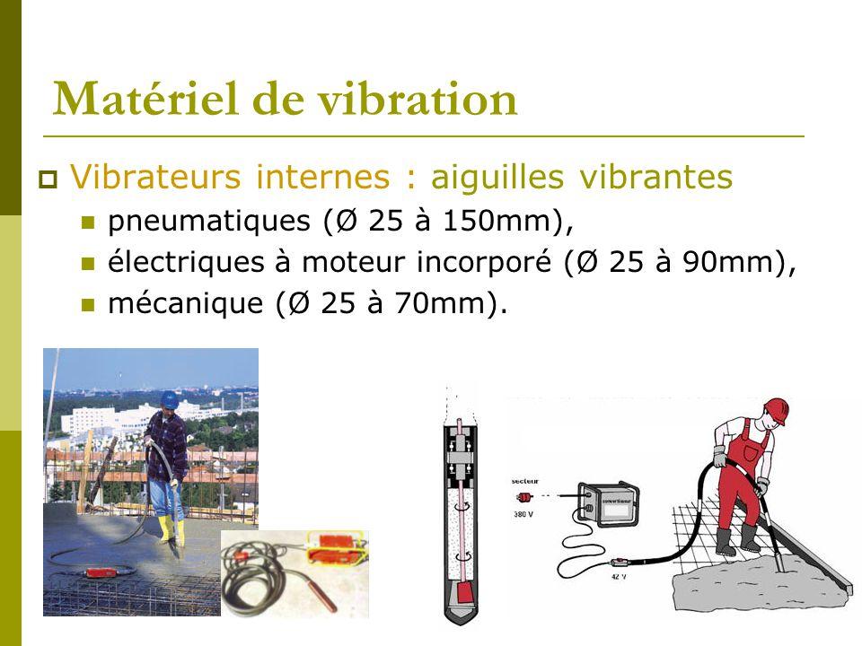 Matériel de vibration Vibrateurs internes : aiguilles vibrantes