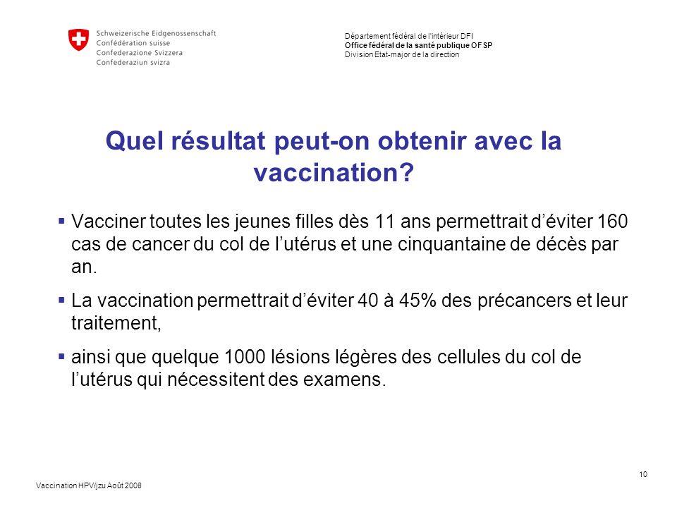 Quel résultat peut-on obtenir avec la vaccination