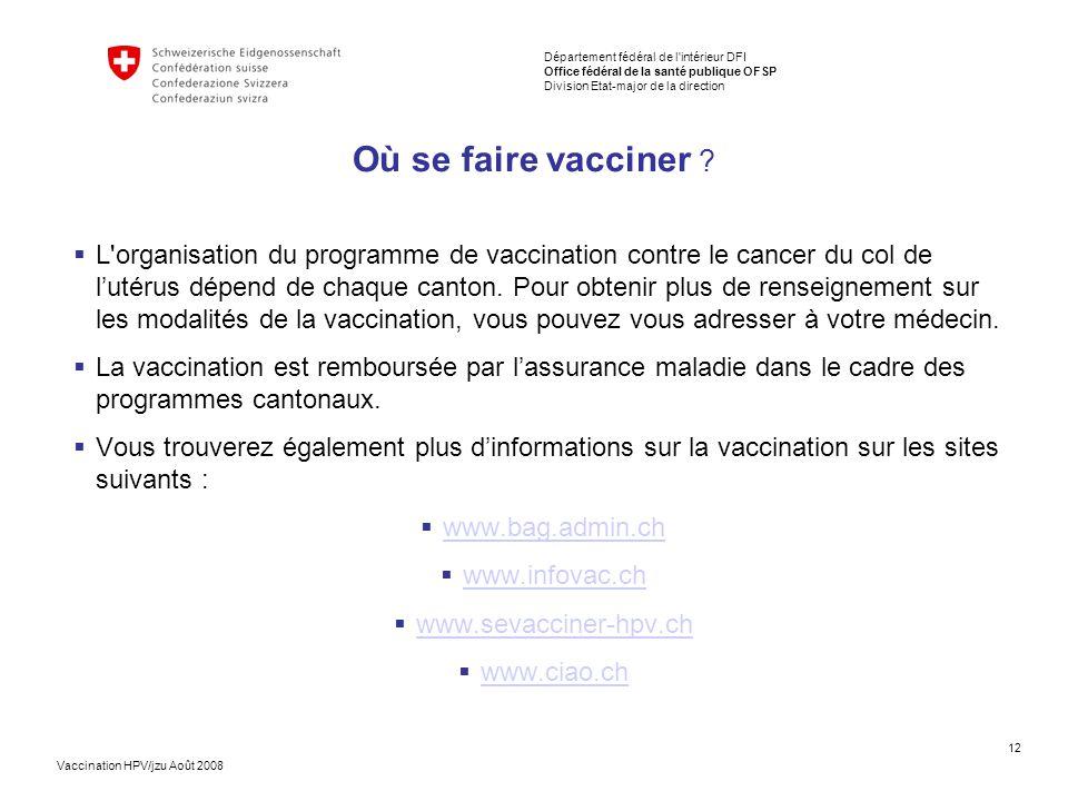 Où se faire vacciner