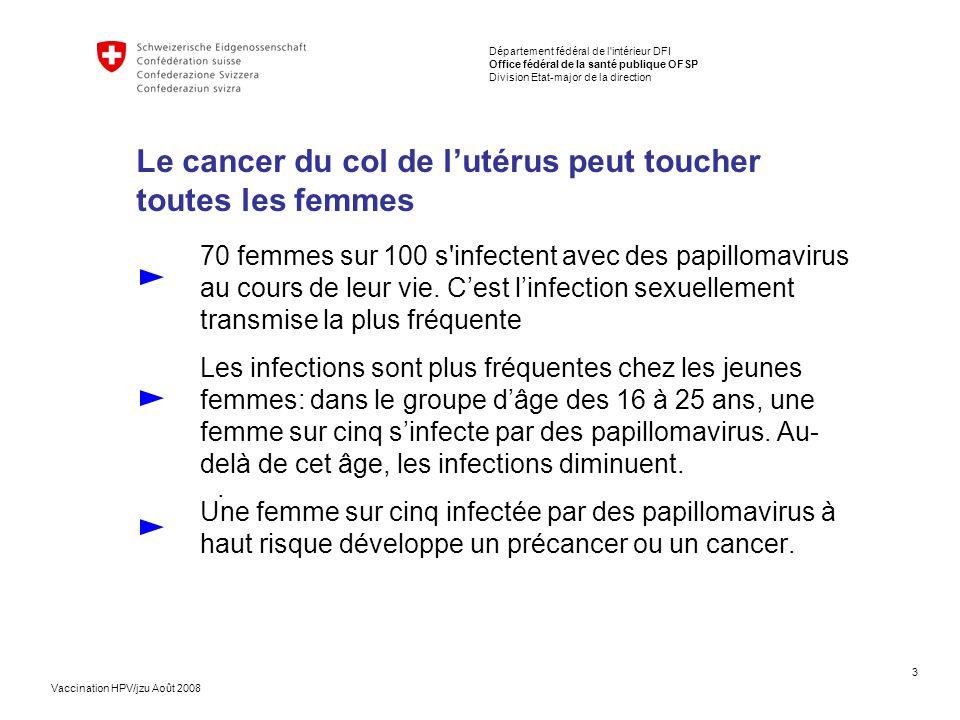 Le cancer du col de l'utérus peut toucher toutes les femmes