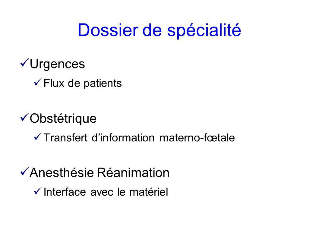 Dossier de spécialité Urgences Obstétrique Anesthésie Réanimation