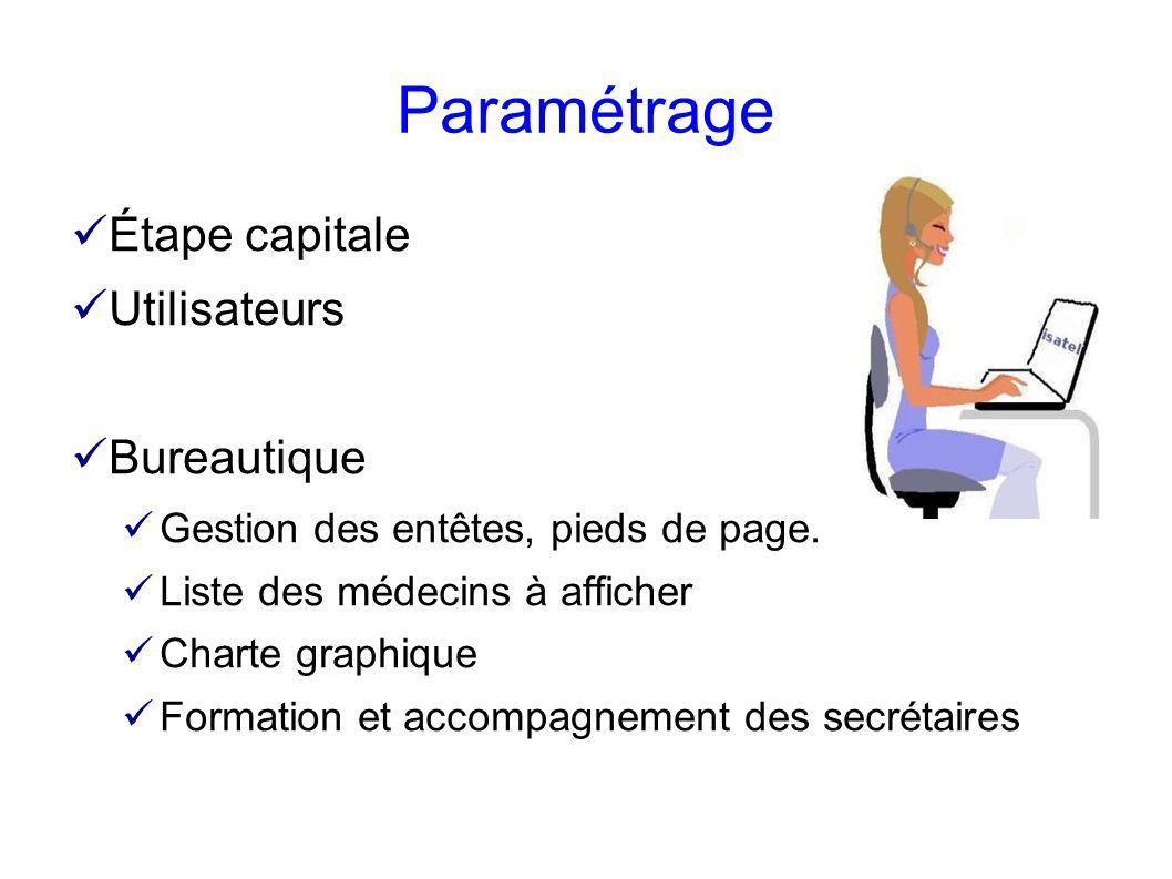 Paramétrage Étape capitale Utilisateurs Bureautique