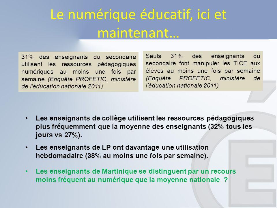 Le numérique éducatif, ici et maintenant…