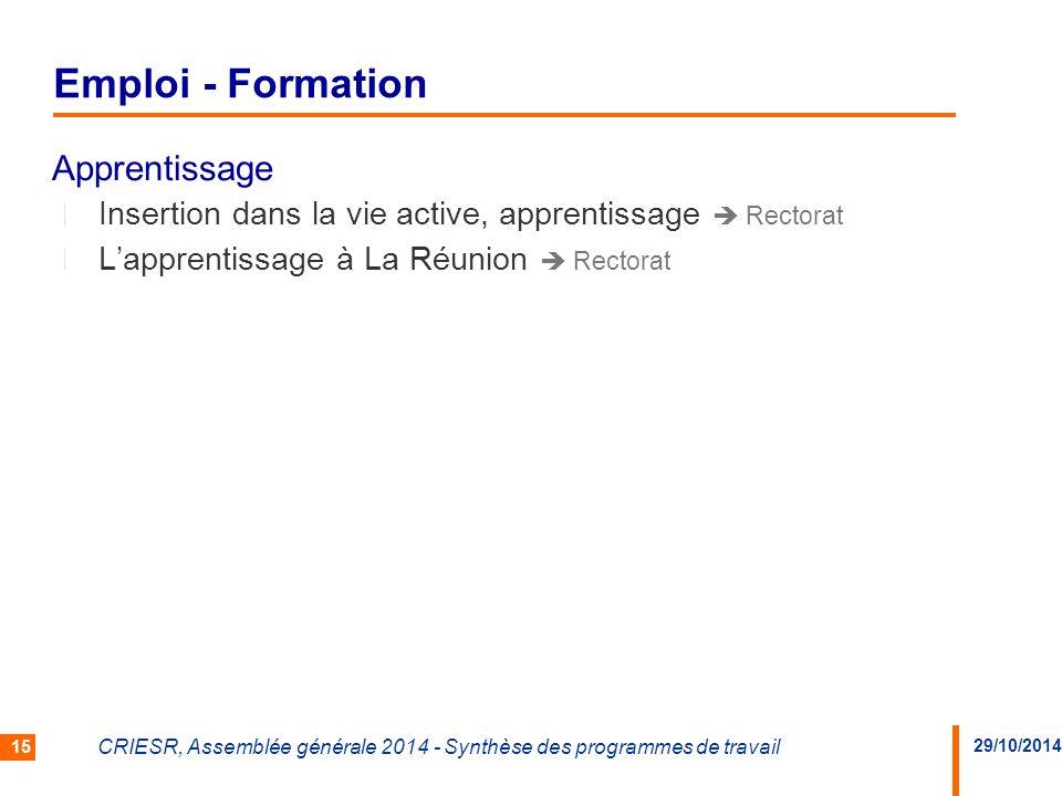 Emploi - Formation Apprentissage