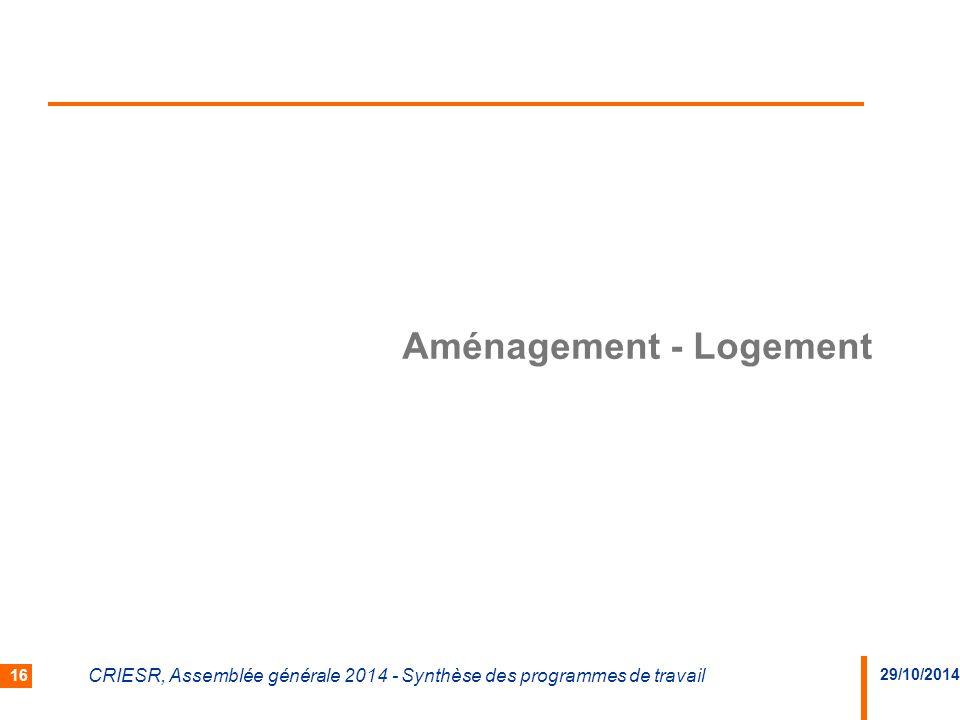 Aménagement - Logement