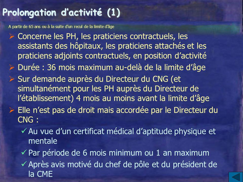 Prolongation d'activité (1)