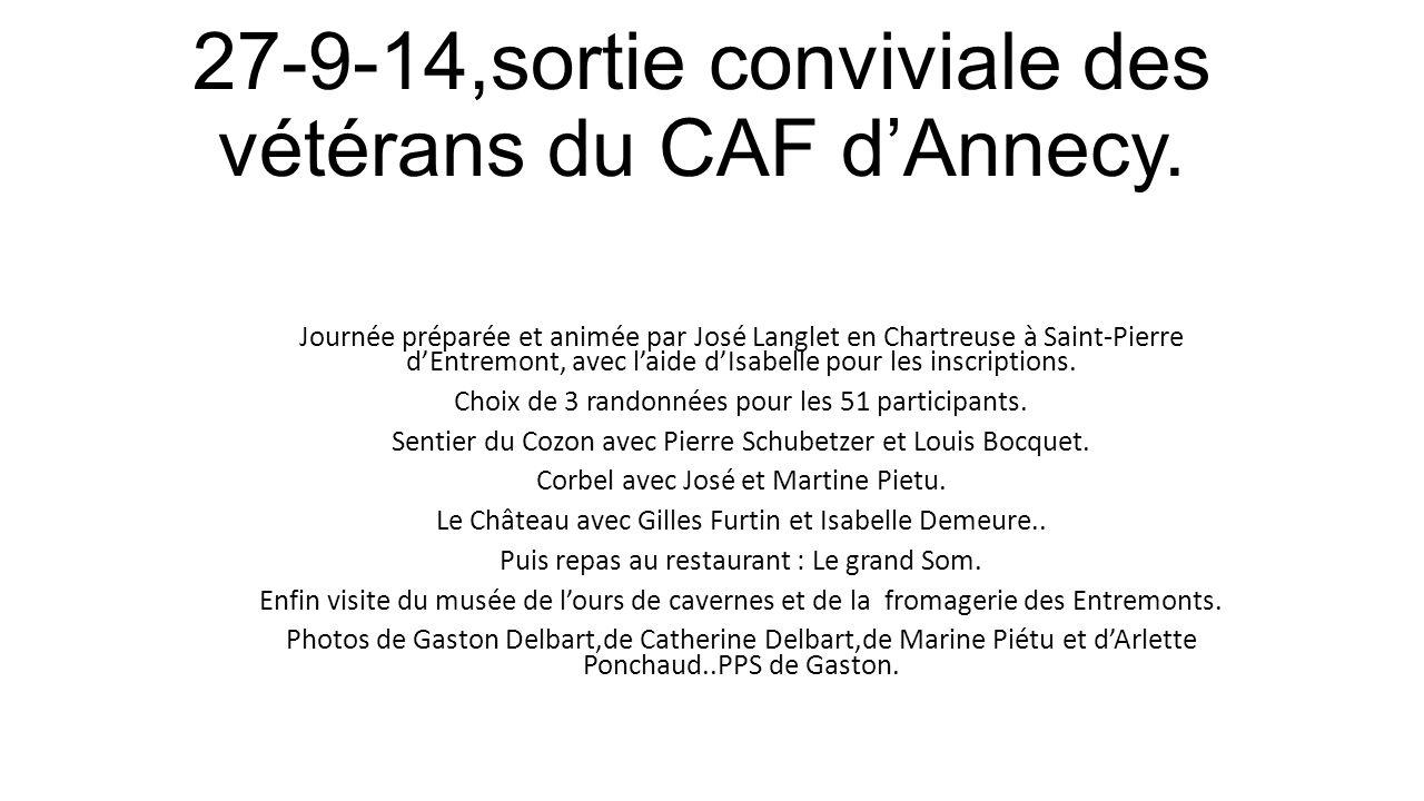 27-9-14,sortie conviviale des vétérans du CAF d'Annecy.