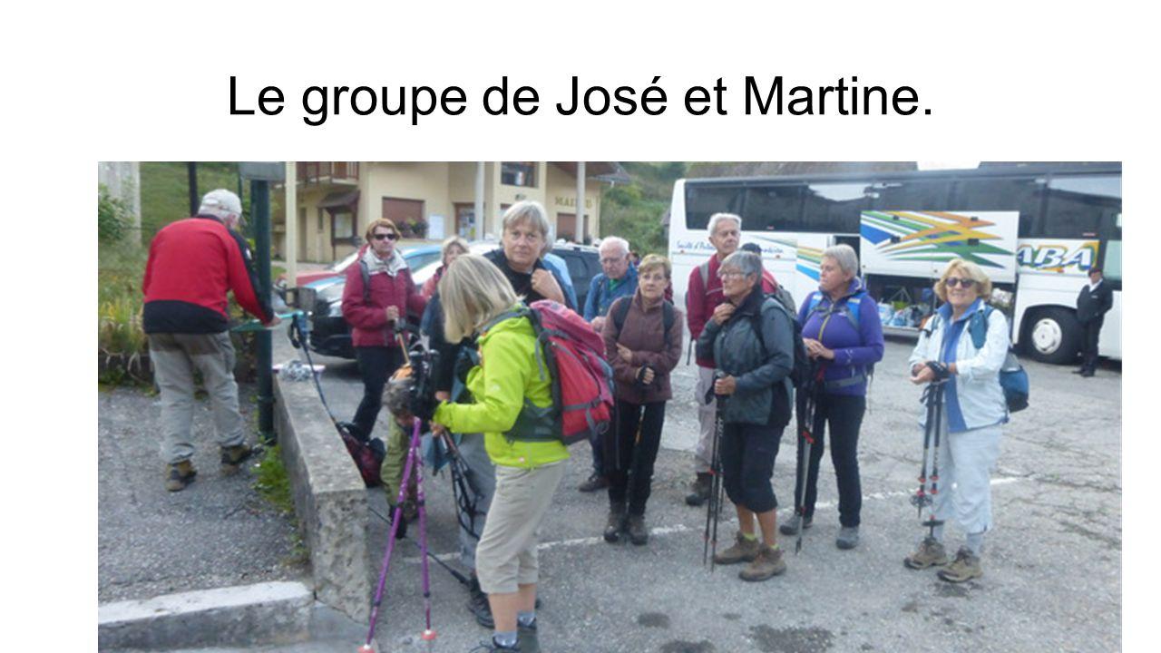 Le groupe de José et Martine.
