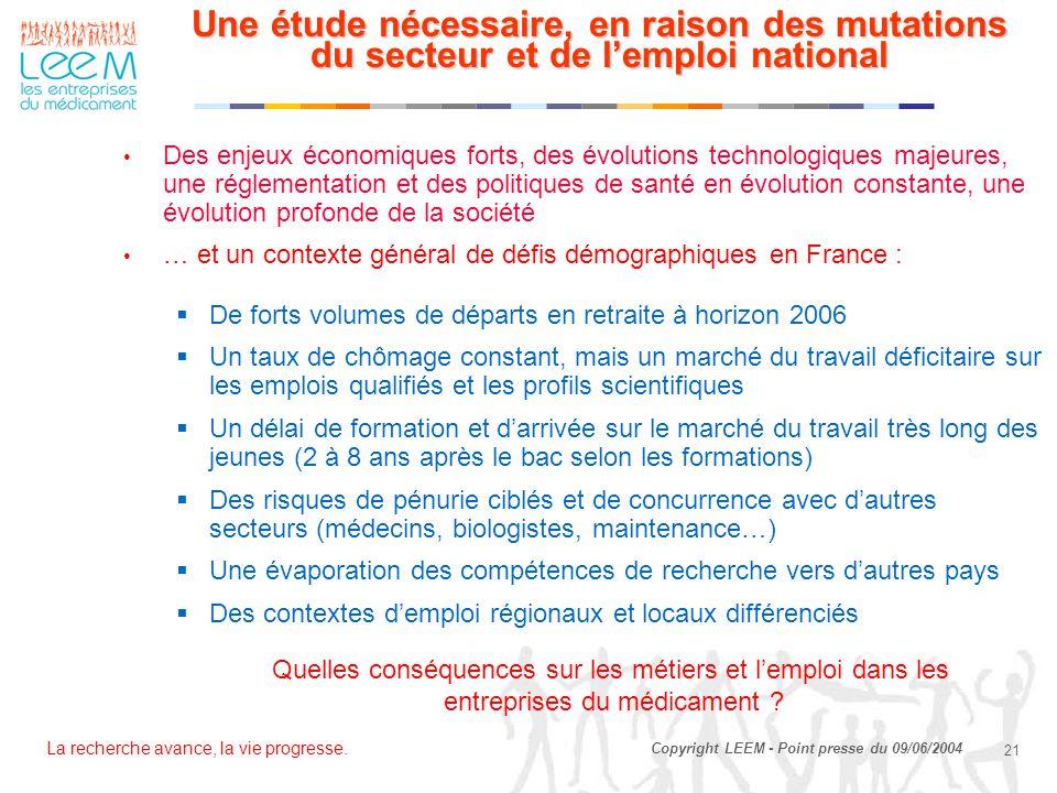 Une étude nécessaire, en raison des mutations du secteur et de l'emploi national