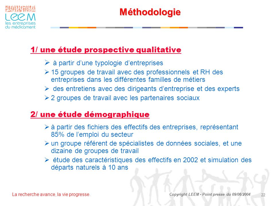 Méthodologie 1/ une étude prospective qualitative