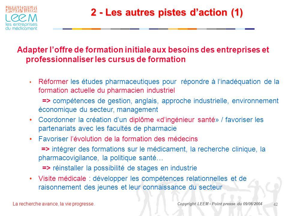 2 - Les autres pistes d'action (1)
