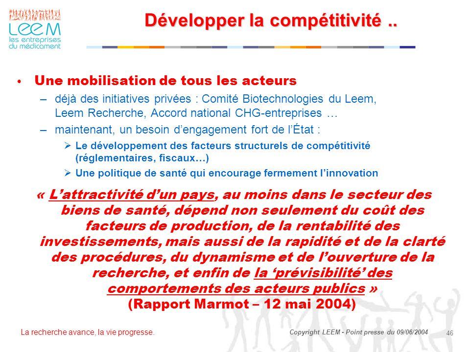 Développer la compétitivité ..