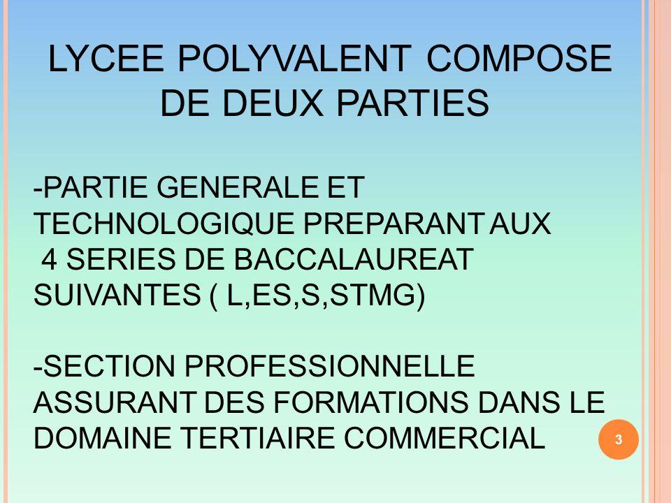 LYCEE POLYVALENT COMPOSE DE DEUX PARTIES