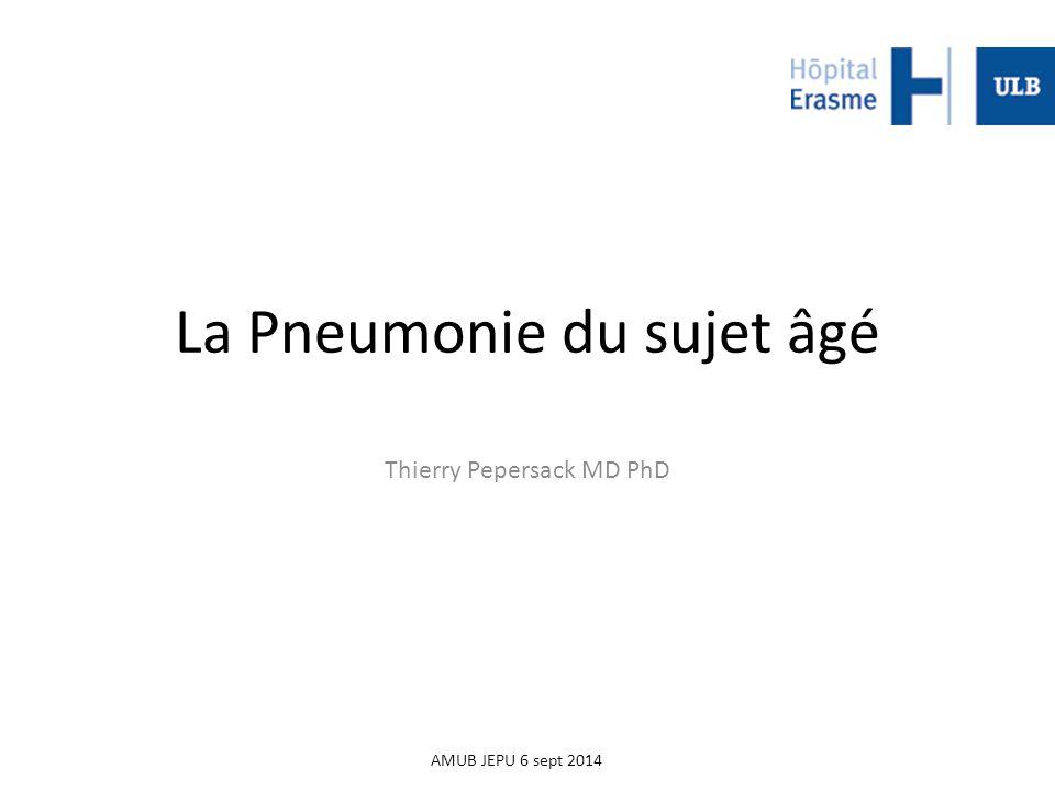 La Pneumonie du sujet âgé
