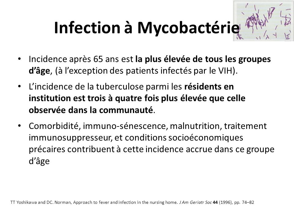 Infection à Mycobactérie