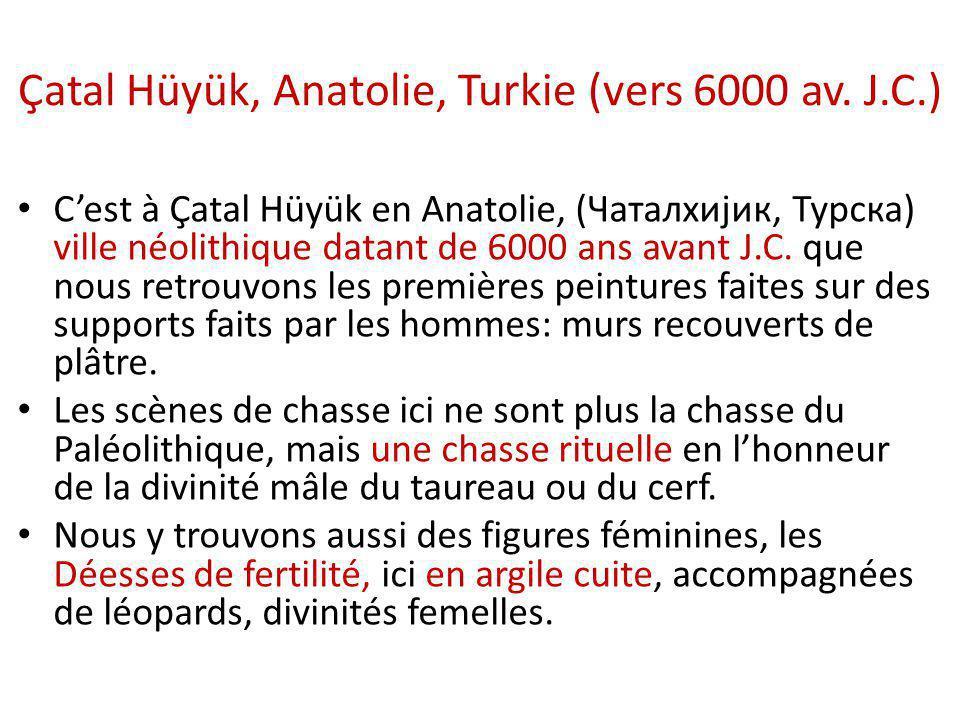 Çatal Hüyük, Anatolie, Turkie (vers 6000 av. J.C.)
