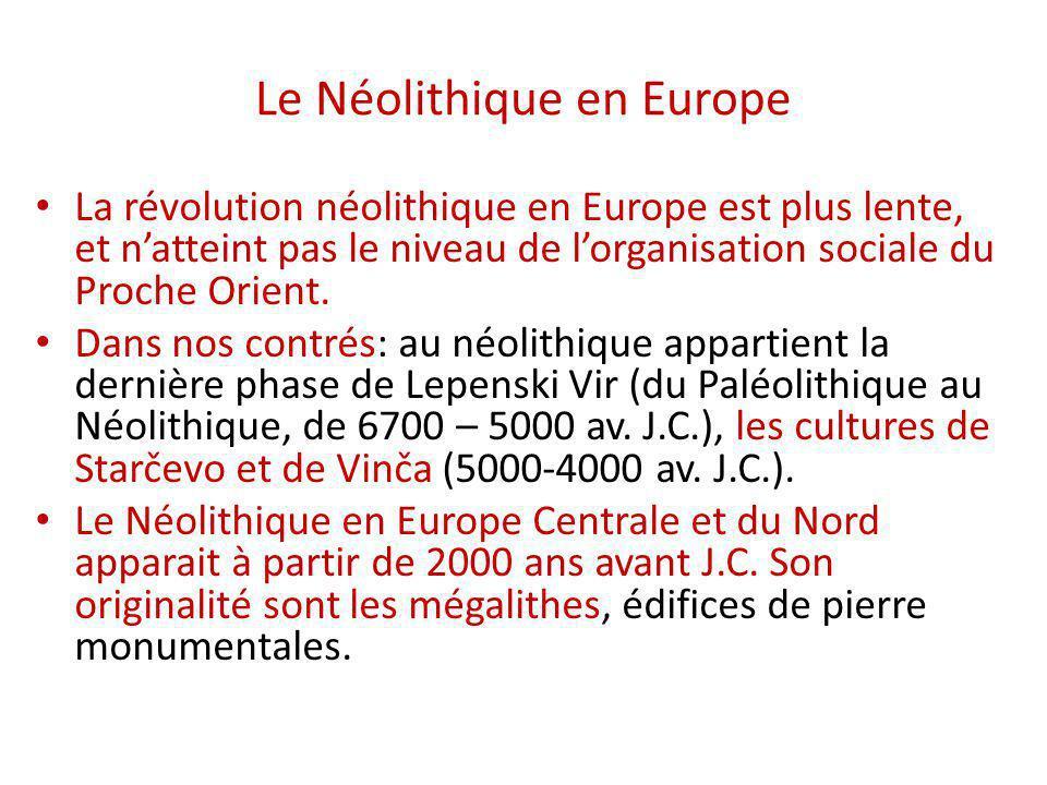 Le Néolithique en Europe